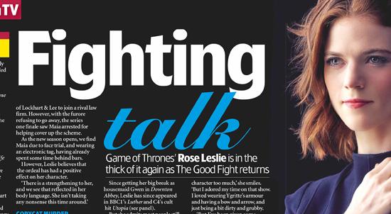 Rose in 'TV & Satellite Week'