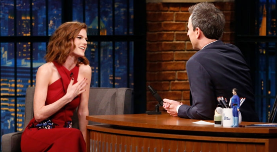 Rose on 'Late Night with Seth Meyers'