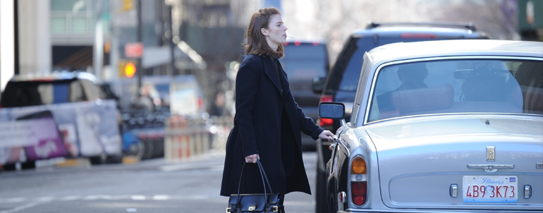 Rose filming 'The Good Fight' in New York with Michael Sheen